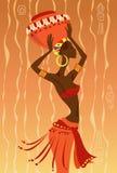 Mulher africana ilustração stock