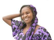 Mulher africana bonita que veste um vestido tradicional, Senegal Foto de Stock Royalty Free