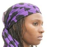 Mulher africana bonita que veste um vestido tradicional, Senegal Imagens de Stock Royalty Free