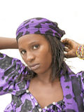 Mulher africana bonita que veste um vestido tradicional, Senegal Imagens de Stock