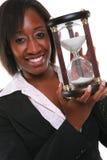 Mulher africana com Hourglass fotografia de stock