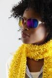 Mulher africana do disco. imagens de stock royalty free