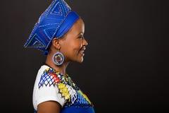 Mulher africana do tribo Zulu Imagens de Stock Royalty Free