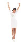 Mulher africana entusiasmado imagens de stock