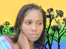 Mulher africana nova bonita Fotos de Stock Royalty Free