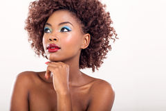 Mulher africana que olha afastado Fotos de Stock Royalty Free