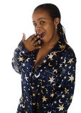 Mulher africana sonolento imagem de stock