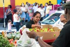 A mulher africana vende vegetais Foto de Stock