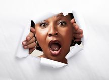 Mulher afro-americana alegre feliz imagens de stock royalty free