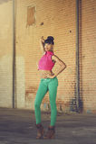 Mulher afro-americano nova bonita Fotos de Stock Royalty Free