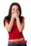 Mulher amedrontada Imagens de Stock Royalty Free