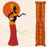 Mulher americana africana bonita Fotos de Stock Royalty Free