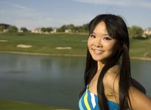 Mulher americana asiática fotos de stock royalty free