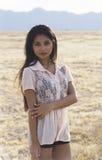 Mulher americana asiática de sorriso nova fotos de stock royalty free