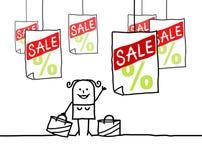Mulher & venda ilustração royalty free