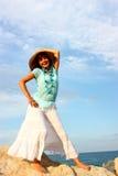 Mulher ao ar livre Fotografia de Stock Royalty Free