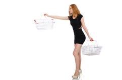 Mulher após a compra Fotos de Stock
