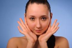 Mulher após o banho Fotos de Stock Royalty Free
