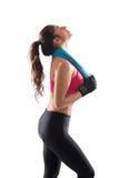 Mulher após o exercício do gym imagens de stock royalty free