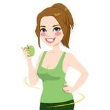 A mulher Apple saudável faz dieta ilustração do vetor