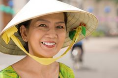 Mulher asiática alegre Fotografia de Stock
