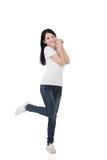 Mulher asiática alegre imagens de stock