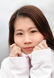 Mulher asiática bonita Imagem de Stock Royalty Free