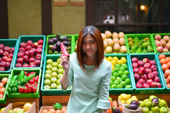 Mulher asiática bonita do retrato Foto de Stock Royalty Free