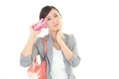 Mulher asiática cansado Imagem de Stock Royalty Free
