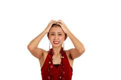 Mulher asiática confusa Foto de Stock