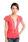 Mulher asiática consideravelmente nova Foto de Stock Royalty Free