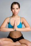 Mulher asiática da ioga fotografia de stock royalty free