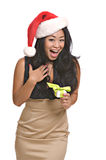 Mulher asiática de Lovelyl com anel fotografia de stock royalty free