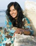 Mulher asiática de riso feliz imagens de stock royalty free