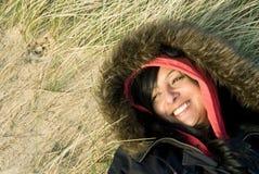 Mulher asiática de sorriso feliz foto de stock