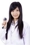 Mulher asiática do doutor da medicina fotos de stock