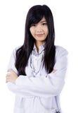 Mulher asiática do doutor da medicina imagem de stock