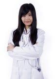 Mulher asiática do doutor da medicina imagens de stock
