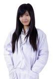 Mulher asiática do doutor da medicina fotografia de stock royalty free