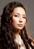 Mulher asiática em um salão de beleza de beleza. Foto de Stock Royalty Free