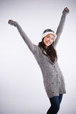 Mulher asiática feliz bonita Fotografia de Stock