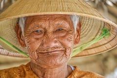 Mulher asiática idosa Imagens de Stock Royalty Free