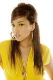 Mulher asiática no vestido fotos de stock royalty free