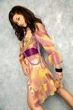 Mulher asiática no vestido imagens de stock