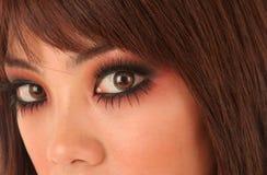 Mulher asiática nova bonita fotografia de stock royalty free