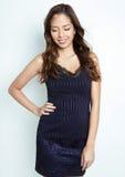 Mulher asiática nova bonita com pele sem falhas Fotografia de Stock