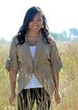 Mulher asiática nova bonita - outono Fotos de Stock Royalty Free