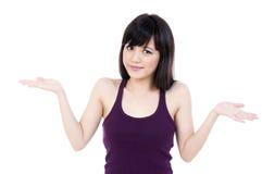 A mulher asiática nova bonito com mãos Outstretched Fotos de Stock