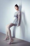 Mulher asiática nova 'sexy' futurista do comprimento completo fotos de stock