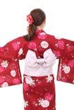 Mulher asiática nova, vista traseira Fotos de Stock